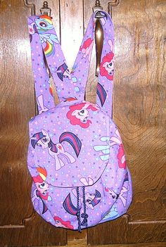 Custom Made My Little Pony Backpack Drawstring Purse by TheJDove