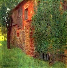 Gustav Klimt  Green & Orange.  Symbolist Landscape.