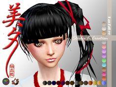 Studio K Creation: Animate hair 37 – Miyu for female • Sims 4 Downloads
