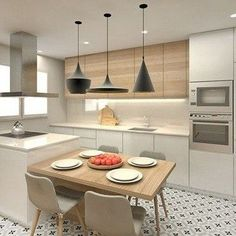 32 Open Concept Kitchen Room Design Ideas for Dummies - homemisuwur Open Plan Kitchen Living Room, Kitchen Room Design, Kitchen Cabinet Design, Modern Kitchen Design, Kitchen Layout, Home Decor Kitchen, Interior Design Kitchen, Contemporary Kitchen Island, Dining Room