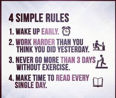 Simple Rules, Im Bored, How To Wake Up Early, Singles Day, Make Time, Work Hard, Thinking Of You, How To Plan, Future