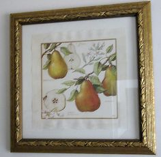 Southern Living at Home Framed Print A Pair of Pears Fruit Gold Frame Meg Page