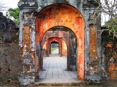 On a bicycle tour of Vietnam, we stopped to visit Hue. The Imperial City in Hue was rebuilt after being bombed during the Vietnam War. The views in every direction were beautiful, and this was my favorite-- a series of doorways in a row. LIKE THIS PHOTOSubmit your own travel photos for a chance to win the trip of your dreams.