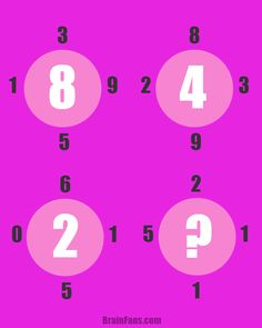 Brain teaser - Number And Math Puzzle - genius puzzle - There is a hidden pattern to get the number in a circle. Use all four numbers around circles to calculate the number in the center.   Math puzzle for beginners should be easy peasy for you. Can you guess the result?