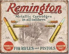 Remington Since 1816 Metalen wandbord 31,5 x 40,5 cm