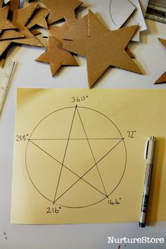 five point star template Autumn Crafts, Christmas Crafts For Kids, Christmas Decorations, Fabric Ornaments, Xmas Ornaments, Christmas Art Projects, Star Template, Arts And Crafts, Paper Crafts