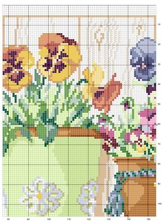 Schema punto croce Vasi-fiori-3