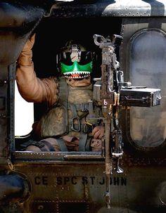 """Blackhawk door gunner,Tikrit,Iraq"". photo by Russell Klika"