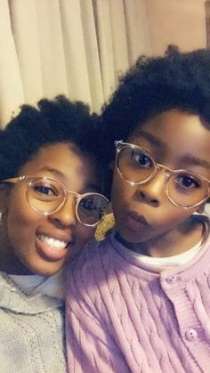 Mom and Daughter Afro's out to play