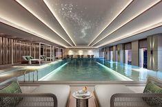 Hotel Swimming Pool, Luxury Swimming Pools, Luxury Pools, Hotel Pool, Indoor Swimming Pools, Dream Pools, Swimming Pool Designs, Pool Changing Rooms, Glass Pool