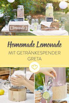 Die nächste Party steht an? Mit unserem Getränkespender Greta versorgst du deine Gäste mit leckeren Drinks und Limos und sorgst ganz nebenbei für einen Hingucker auf deinem Buffet.
