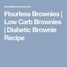 Flourless Brownies | Low Carb Brownies | Diabetic Brownie Recipe