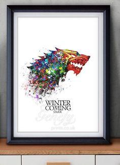 House Stark Watercolor