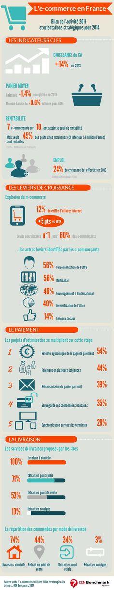 Infographie : L'e-commerce en France : Bilan et stratégies des acteurs  Plus…