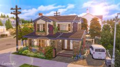 Casas The Sims 4, Sims 4 Build, Sims 4 Houses, Challenges, Cabin, House Styles, Sims Ideas, Building, Inspiration