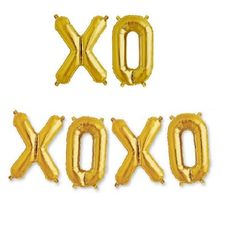 Add a bit of love to the room with these XO or XOXO giant 40 inch gold foil balloons!Balloons can be filled with helium or air.     | Wrinkled Wedding Dress | DIY Wedding Shop | Budget Bride Blog | Bohemian Bride | Country Bride | DIY Party | Cheap Wedding Ideas | Wedding Advice and Tips | Wedding Trends | Bachelorette | Girl's Night | Engagement | Healthy Bride