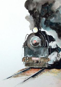 ' Smokin' by Greg Clibon - reminds me on India, waiting at the barrier for the steam train to pass.