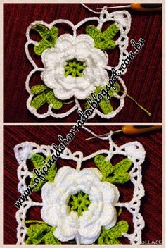 ergahandmade: Crochet Edging With Flowers + Free Pattern Step By Step + Diagram