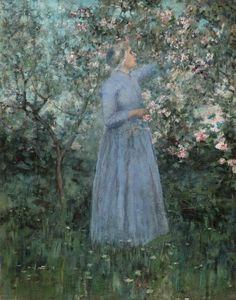 George Hitchcock - Woman in a Garden 1890