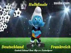 Fußball EM⚽Halbfinale🏆Deutschland - Frankreich⚽🏃Schlumpf, Zoobe, Animation