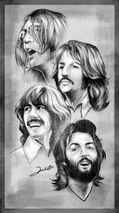 What do you guys think? The Beatles 1, Beatles Art, Beatles Photos, Classic Rock And Roll, Cool Art Drawings, Rock Legends, Joker And Harley, Ringo Starr, Music Film