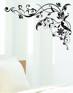 Tribal Black Design Flower Sticker Decal for Baby Nursery Kids Room - http://decorwalldecals.com/tribal-black-design-flower-sticker-decal-for-baby-nursery-kids-room/
