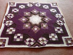 """Blue Star"" Afghan. Pattern from Herrschner's Blue Ribbon Afghans."