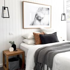 Cool 50 modern farmhouse bedroom decor ideas will make you beautiful in 2019 . - 2019 decoration - Cool 50 modern farmhouse bedroom decor ideas will make you beautiful in 2019 … - Scandinavian Bedroom Decor, Home Decor Bedroom, Modern Farmhouse Bedroom, Home Bedroom, Living Room Decor, Cheap Home Decor, House Interior, Bedroom Inspirations, Living Decor