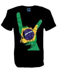 Brazil Horns Black T shirt. Sizes Small - 5XL. Buy now from SCM Facebook store. http://stainedclassmerchandise.aradium.com/97qg4
