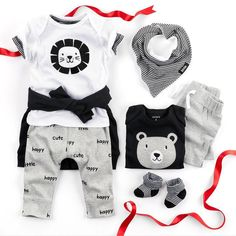 Lions, babies and bears oh my! #littlebabybasics #Christmas #baby #gifts #soft #cute #easy #givecarters #shopthelink