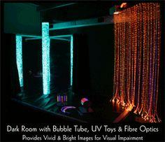 bubble tube & fibre optics