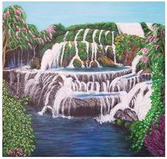 Waterfall Acrylic Art Painting