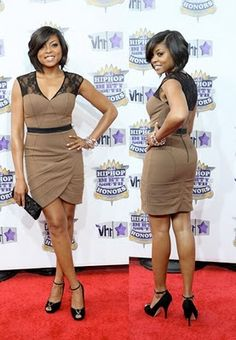 I LOOOVVVE Taraji's hair! Thinking about getting mine cut in this style. maybe................