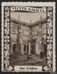 San Esteban (Ourense) : [Viñeta con imagen del Claustro de los Obispos del Monasterio de Santo Estevo de Ribas de Sil en Nogueira de Ramuín] / [fotógrafo, Luis Casado  Fernández]. http://aleph.csic.es/F?func=find-c&ccl_term=SYS%3D001528722&local_base=MAD01