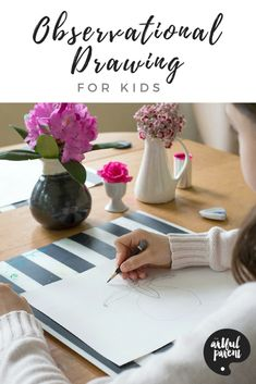 Tips to help children learn to draw what they see. Observational drawing for kids is an excellent way for them to develop visual acuity and drawing skills. via Artful Parent Drawing Skills, Drawing Techniques, Drawing Tips, Drawing Ideas, Drawing Drawing, Design Seeds, Art Activities For Kids, Creative Activities, Preschool Activities