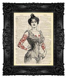 Black Friday Sale Tattoo Art Tattoo Art by MadameBricolagePrint, $10.00