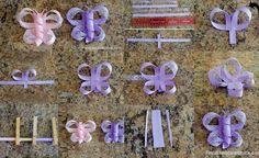 ARTE CON QUIANE - Paps, Moldes, EVA, Felt, costuras, Fofuchas 3D: aprender a hacer: mariposa grosgrain