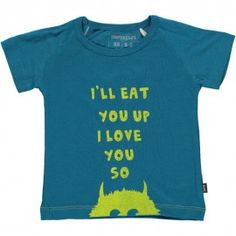 T-shirt I'll eat you up - Bleu