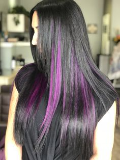 Adding some purple with Babe Hair Babe Hair Studio  tape-in extensions on our gorgeous client! Before & after showing how extensions can give you instant length and volume ❤️   #newportbeach #tapeinextensions #purplehair #ochairsalon #beforeandafter #basinstreethair