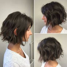 40 Astonishing Bob Hairstyles Ideas That Look Great On Everyone Wavy Bob Hairstyles Astonishing bob Great Hairstyles Ideas Pictures Of Short Haircuts, Cute Short Haircuts, Choppy Bob Hairstyles, Bob Hairstyles For Fine Hair, Bob Haircuts, Easy Hairstyles, Bob Hairstyles Brunette, Natural Hairstyles, Cabelo Ombre Hair