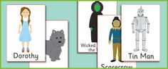 The Wizard of Oz Display Posters Blue Balloons, Tin Man, King Arthur, Wizard Of Oz, Teaching Resources, Fairy Tales, Display, Esl, Funny
