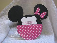 Moldes para invitaciones de Minnie Mouse - Imagui