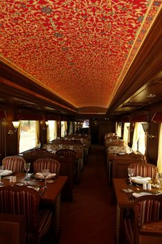 "I want to go anywhere on the route of the Maharajas' Express ~ the most luxurious train of Indian Railways; newly-built ""with all the modern amenities of a 5-star hotel"" -- awesome..."