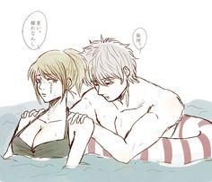Anime Love Couple, Couple Art, Anime Cupples, Anime Art, Gintama Live Action, Okikagu, Cartoon Games, Animation Film, Doujinshi