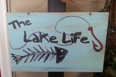 lake life by SCWoodWorkArt on Etsy, $20.00