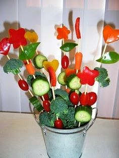 "My favorite ""veggie tray"" idea"