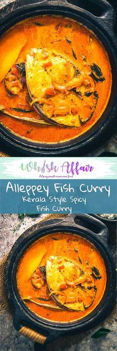 Alleppey Fish Curry is a Kerala Style spicy Fish Curry which is slightly tangy due to the use of raw mangoes or Tamarind. #Fish #Curry #Recipe via @WhiskAffair