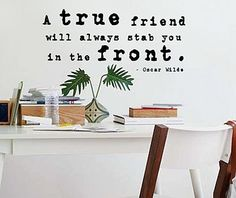 Wall Decal Quotes  quote by Oscar Wilde  A by TenaciousQuotations