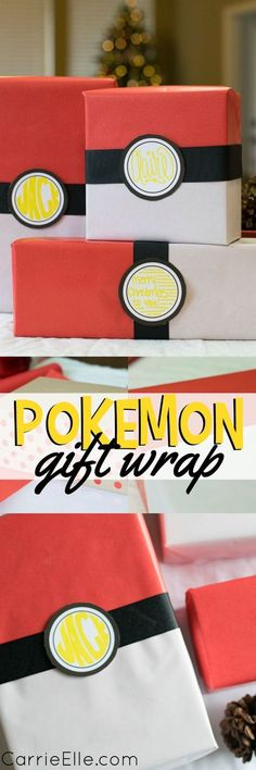 DIY Pokemon Gift Wrap and Pokemon Gift Ideas #AwesomeMoment #ad