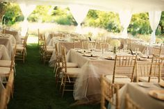 Table clothes/linens made of layers and layers of tulle - sweet and soft!